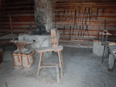 Blacksmith Shop & Corral image. Click for full size.