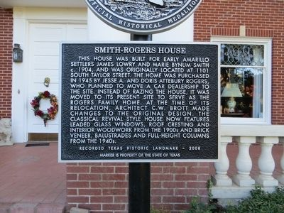 Smith-Rogers House Marker image. Click for full size.