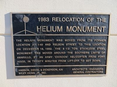 1983 Relocation of the Helium Monument Marker image. Click for full size.