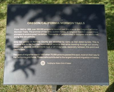 Oregon/California/Mormon Trails Marker image. Click for full size.