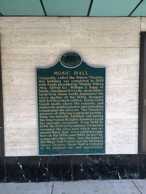 Music Hall Marker image. Click for full size.