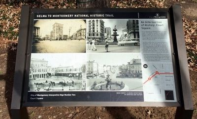 An Intersection of History: Court Square Marker image. Click for full size.