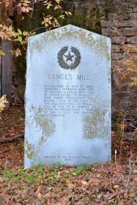 Lange's Mill Marker image. Click for full size.