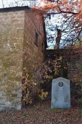 Lange's Mill Marker at West End of Mill image. Click for full size.