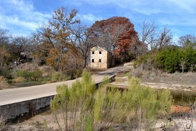 Lange's Mill next to Threadgill Creek image. Click for full size.
