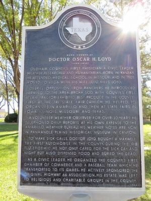 Doctor Oscar H. Loyd Marker image. Click for full size.