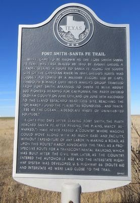 Fort Smith-Santa Fe Trail Marker image. Click for full size.