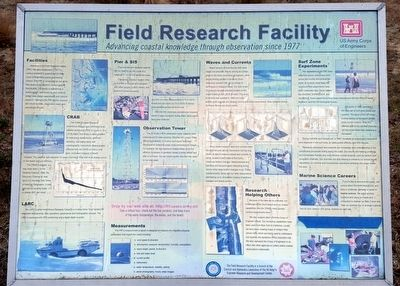 Field Research Facility Marker image. Click for full size.