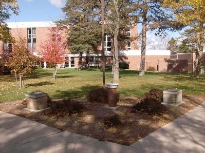 Site of Old Main Marker / Site of Folsom Hall Marker image. Click for full size.
