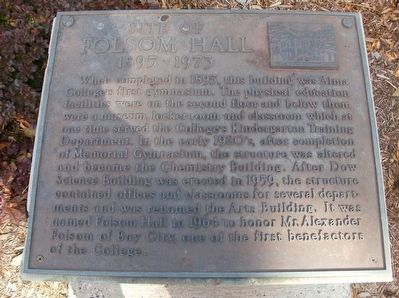 Site of Folsom Hall Marker image. Click for full size.