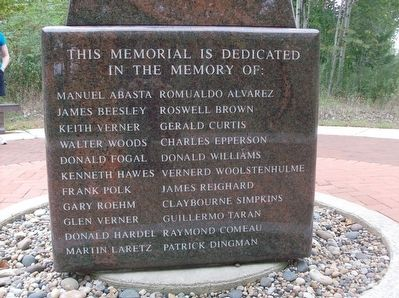The 1971 Water Tunnel Explosion Memorial - side 1 image. Click for full size.