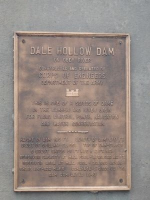 Dale Hollow Dam Marker image. Click for full size.