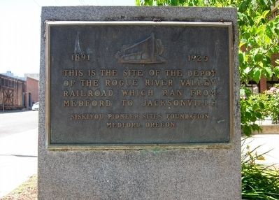 Rogue River Valley Railroad Depot Marker image. Click for full size.