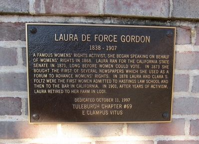 Laura de Force Gordon Marker image. Click for full size.