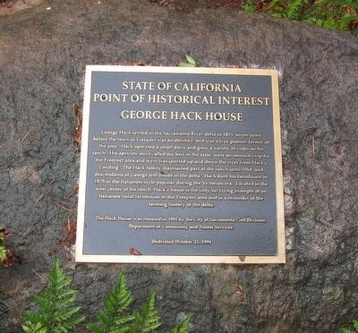 George Hack House Marker image. Click for full size.
