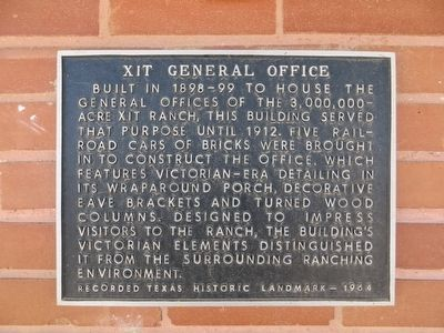 XIT General Office Marker image. Click for full size.