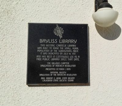 Bayliss Library Marker image. Click for full size.