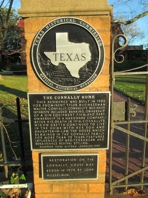 The Connally Home Marker image. Click for full size.