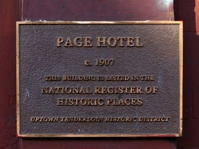 Page Hotel Marker image. Click for full size.
