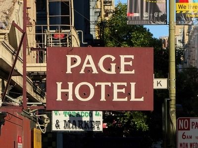 Page Hotel Sign image. Click for full size.