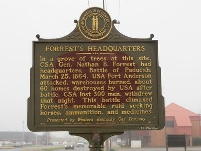 Forrest's Headquarters Marker image. Click for full size.