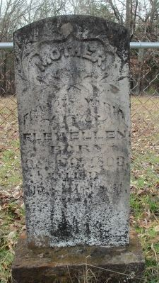 Gravestone of Francis Maria Flewellen image. Click for full size.