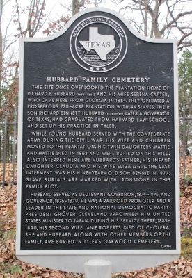 Hubbard Family Cemetery Marker image. Click for full size.
