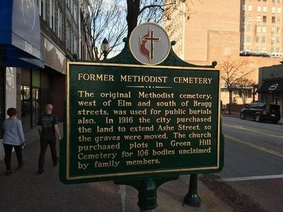 Former Methodist Cemetery Marker image. Click for full size.