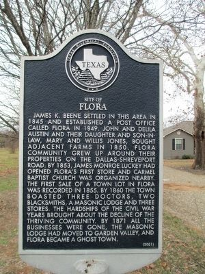 Site of Flora Marker image. Click for full size.
