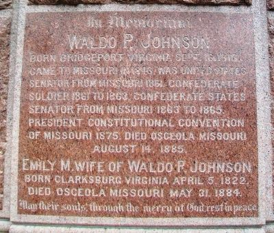 Waldo P. Johnson Monument Marker image. Click for full size.