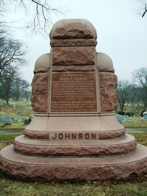 Waldo P. Johnson Monument (front) image. Click for full size.