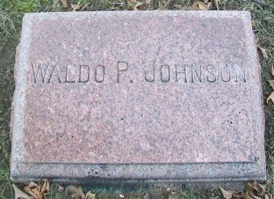 Waldo P. Johnson Headstone image. Click for full size.