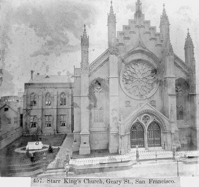 <i>Starr King&#39;s Church, Geary Street, San Francisco</i> image. Click for full size.