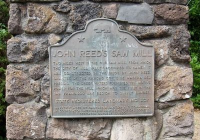 John Reed's Saw Mill Marker image. Click for full size.