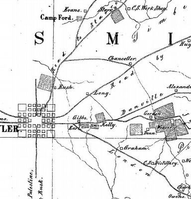 Headache Springs Medical Laboratory 1863 map image. Click for full size.