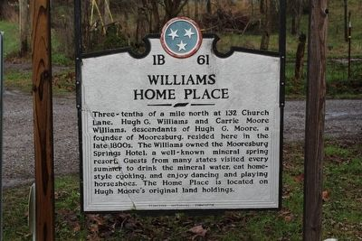 Williams Home Place Marker image. Click for full size.