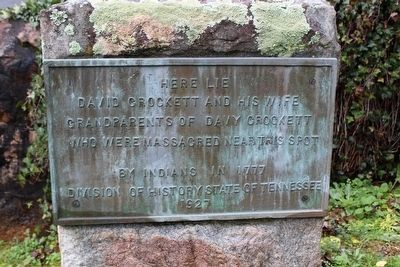 David Crockett's Gravestone image. Click for full size.