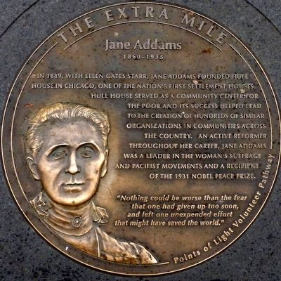 Jane Addams 1860 - 1935 Marker image. Click for full size.