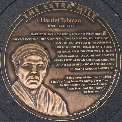 Harriet Tubman circa 1820 - 1913 Marker image. Click for full size.