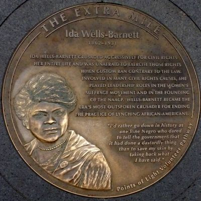 Ida Wells-Barnett 1862 - 1921 Marker image. Click for full size.
