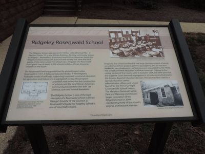 Ridgeley Rosenwald School Marker image. Click for full size.