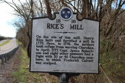 Rice's Mill Marker image. Click for full size.