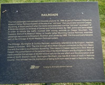 Railroads Marker image. Click for full size.