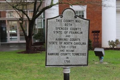 Hawkins County, Tennessee Marker image. Click for full size.