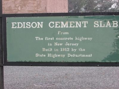 Edison Cement Slab Marker image. Click for full size.