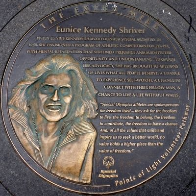 Eunice Kennedy Shriver Marker image. Click for full size.