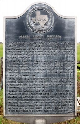 Albert Sidney Johnston Marker image. Click for full size.