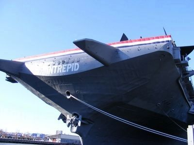 USS Intrepid-Looking up from the dock image. Click for full size.