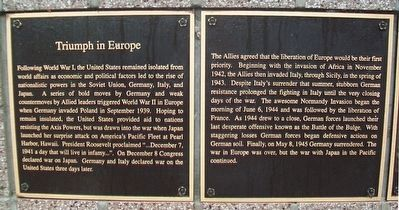 Triumph in Europe Marker image. Click for full size.