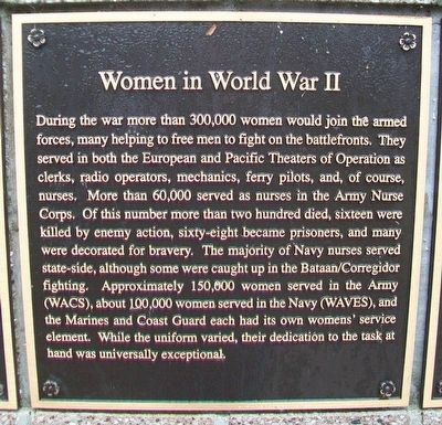 Women in World War II Marker image. Click for full size.